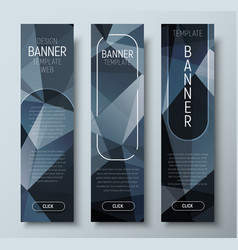 Design of vertical web banners with polygonal vector