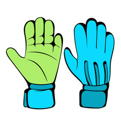 protective soccer gloves icon icon cartoon vector image