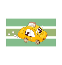 A running taxi vector image