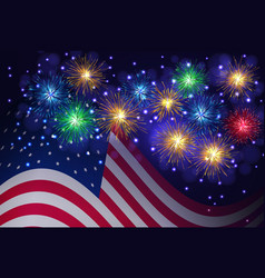 Independence day 4th of july background vector