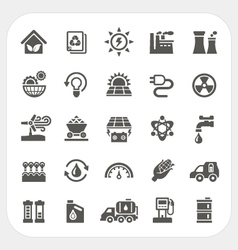 Energy and power icons set vector