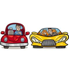 Malicious driver cartoon vector