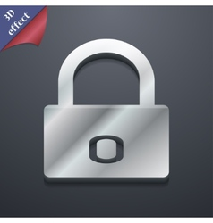 Lock icon symbol 3d style trendy modern design vector