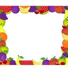 Frame of fruits vector