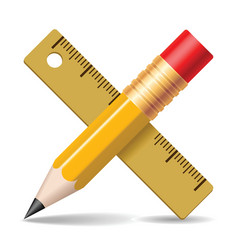 Pencil ruler vector