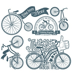 Logo with a bicycle vector