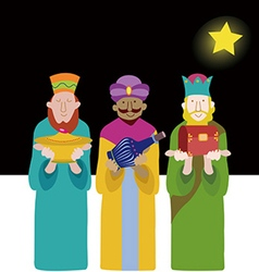 Three wise kings vector