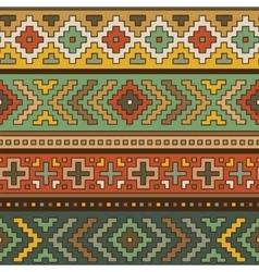 Folk ornamental textile seamless pattern vector image