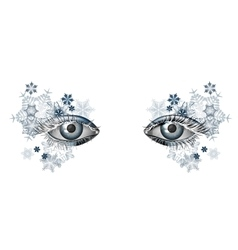 Winter masquerade makeup for christmas and new vector