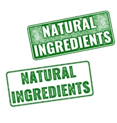 Realistic natural ingredients rubber stamp vector