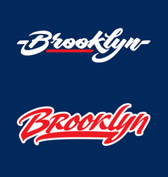brooklyn lettering vector image