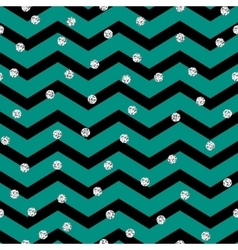 Chevron zigzag black and mint seamless pattern vector