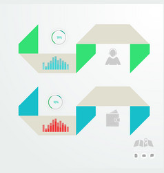 Colorful infographic for business presentations vector