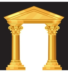 Corinthian realistic antique greek temple with vector
