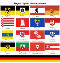 Flags of capitals of german states vector