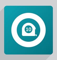 Flat measurement icon vector