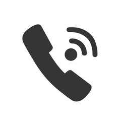 Handset call phone calling icon graphic vector