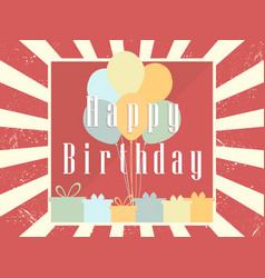 happy birthday card celebration banner festive vector image