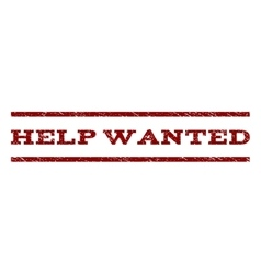 Help Wanted Watermark Stamp vector image