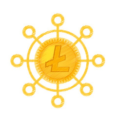 Litecoin currency icon design vector