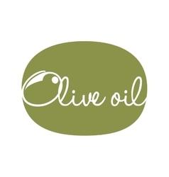 olive oil label design vector image