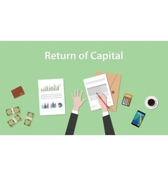 Return of capital with business man vector