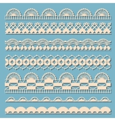 Set of vintage laces vector image vector image