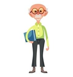 Smart old man vector image