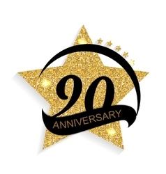 Template logo 90 anniversary vector