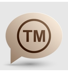 Trade mark sign brown gradient icon on bubble vector