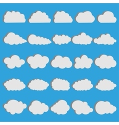 Volumetric clouds vector image vector image