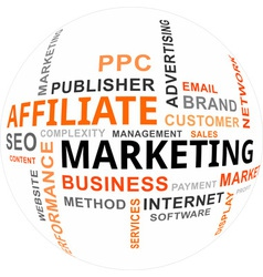 Word cloud affiliate marketing vector
