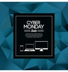 Smartphone laptop computer and cyber monday design vector