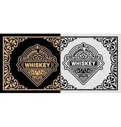 Vintage label for whiskey packing vector