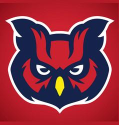 owl head mascot vector image