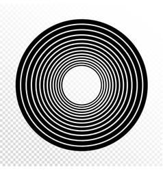 concentric circles progressive line weight design vector image