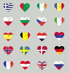 Set of original flags of the countries of europe vector
