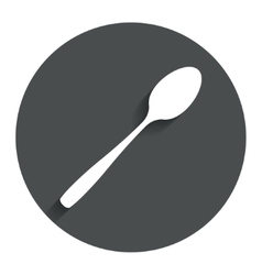 Eat sign icon cutlery symbol diagonal teaspoon vector