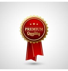 Premium Quality Badge Label vector image