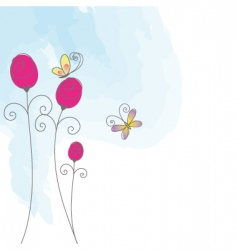 butterfly greeting card vector image
