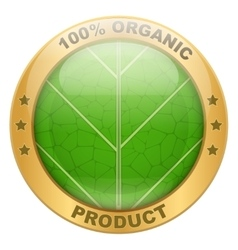 Icon of organic for food or drinks vector