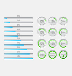 Progress bars elements vector