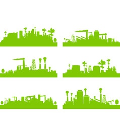 Eco factories vector