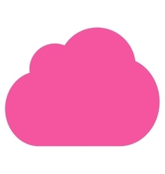 Cloud flat pink color icon vector