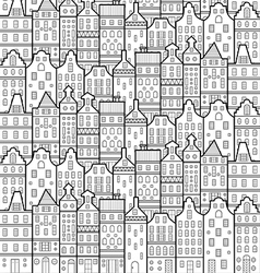 House amsterdam pattern black and white vector