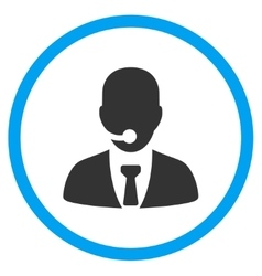 Call center manager circled icon vector