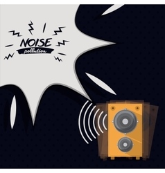 Noise pollution design vector