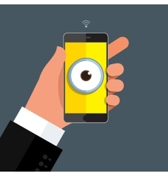 Privacy concept big brother vector