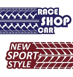 Race logotypes set vector