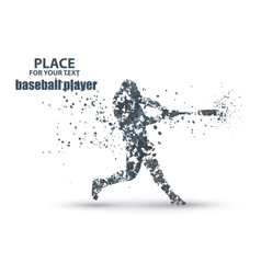 Baseball Batter Hitting Ball particle divergent vector image